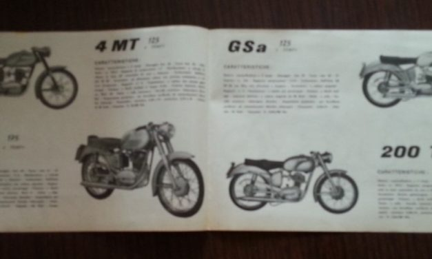 Catalogo produzione moto 1957
